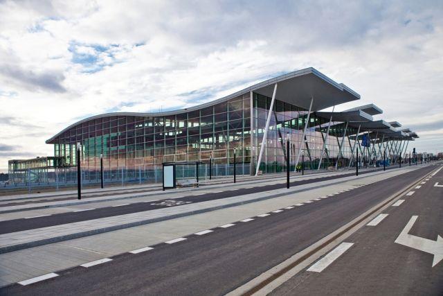 Entwässerung Flughafen Gebäude in Breslau