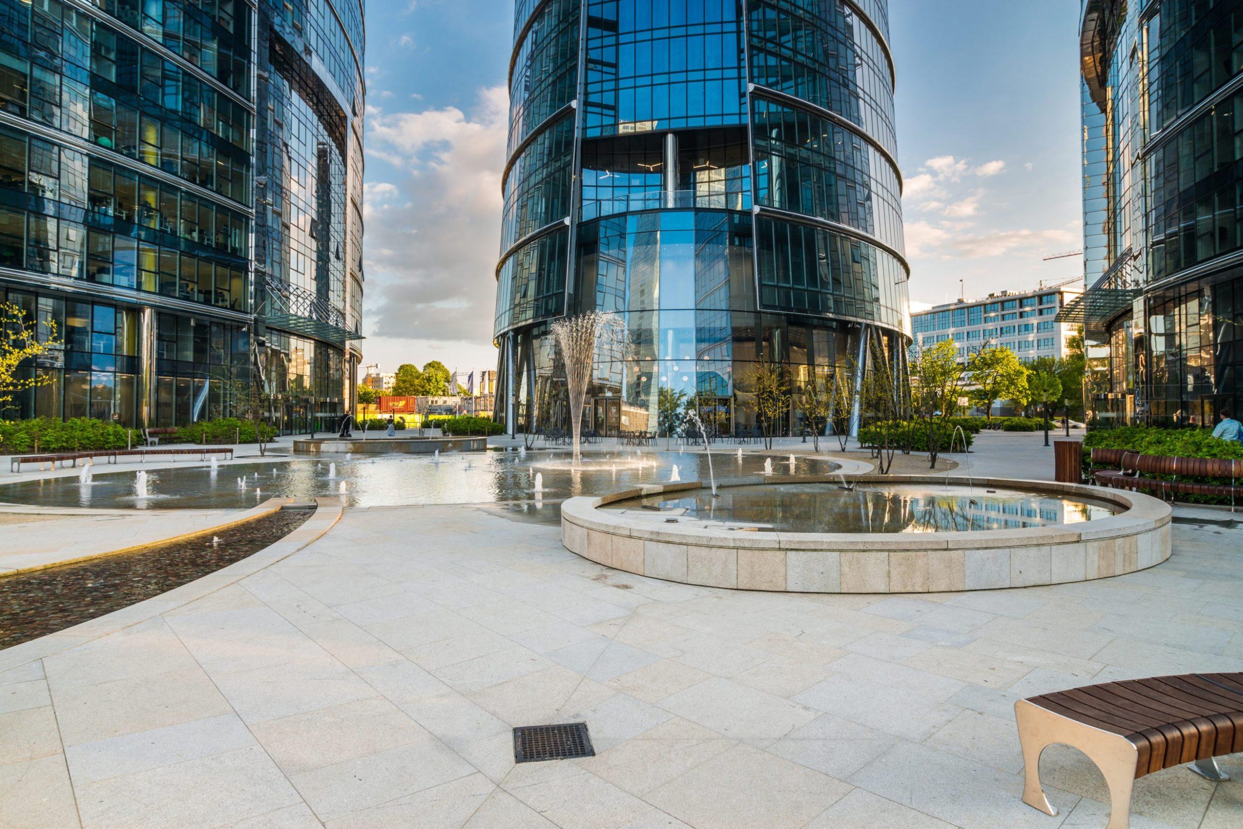 Entwässerung Bürogebäude Warsaw Spire Polen