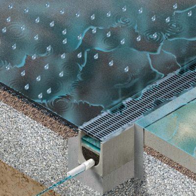 Filterrinnensystem DRAINFIX CLEAN reinigt Regenwasser