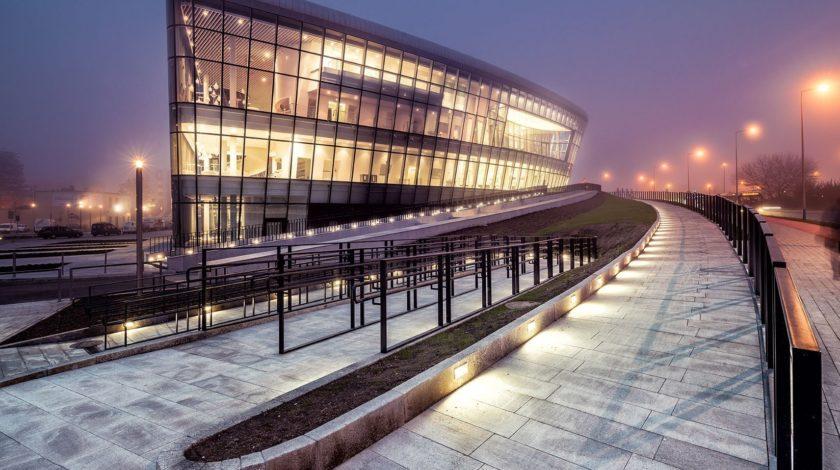 Architektonisch hochwertiges Kongresszentrum ICE Krakau