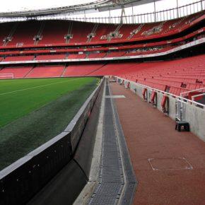 Medienrinne im Emirates Stadion in London