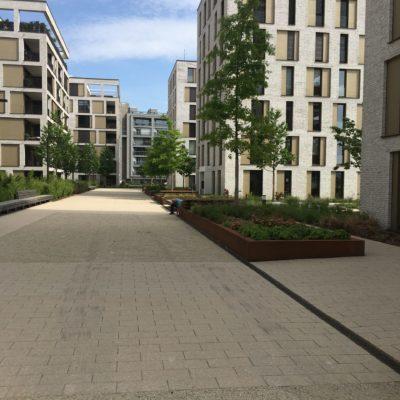 Entwässerung urbaner Wohnkomplex Frankfurt