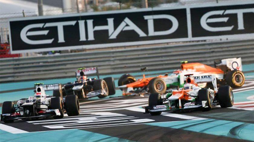 Formel 1 Rennen auf dem Yas Marina Circuit