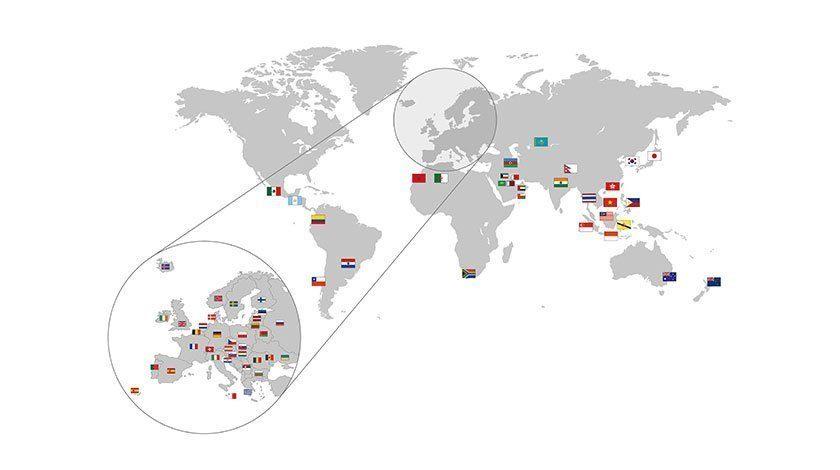 HAURATON - weltweit vertreten