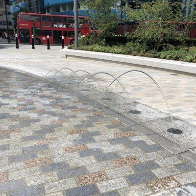 Drainage esthétique dans le centre de Londres