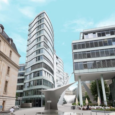 Architektonisch hochwertiges Entwässerungsprojekt die Welle in Frankfurt