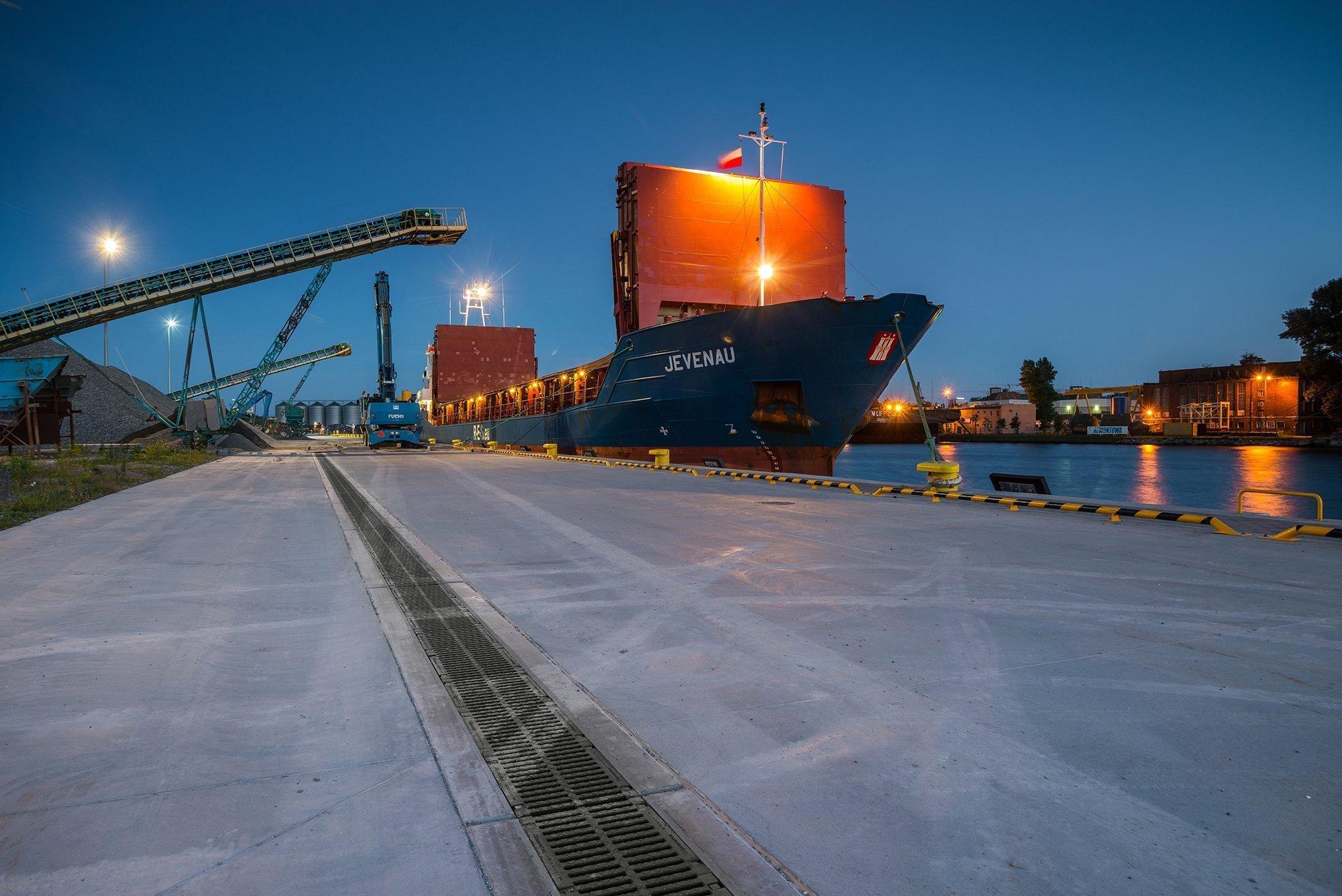 Entwässerungslösung am Industriehafen in Danzig