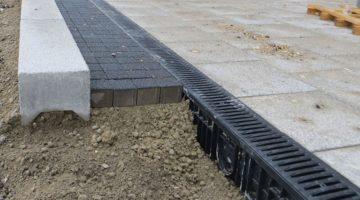 Einbaubild RECYFIX Entwässerungsrinne