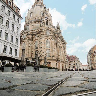 Hochwertige Entwässerung mit Schlitzrinne: Öffentlicher Platz Frauenkirche Dresden