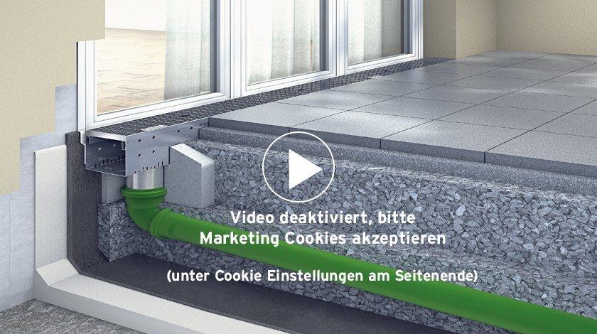 Video über barrierefreie Entwässerung