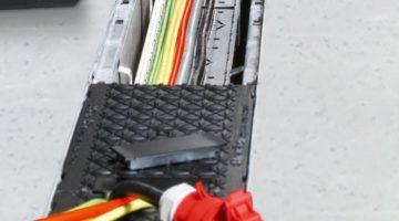 Leitungen und Kabel werden mit dem System MEDIENRINNEN einfach organisiert