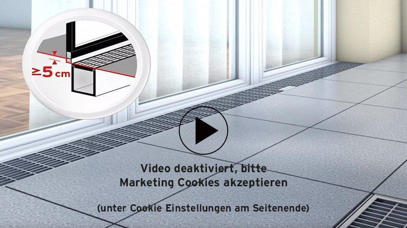 Video ueber nicht barrierefreie Fassadenentwässerung