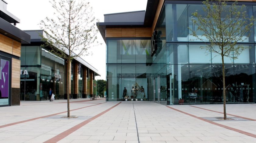 Whiteley shopping outlet with SLOTTED CHANNEL