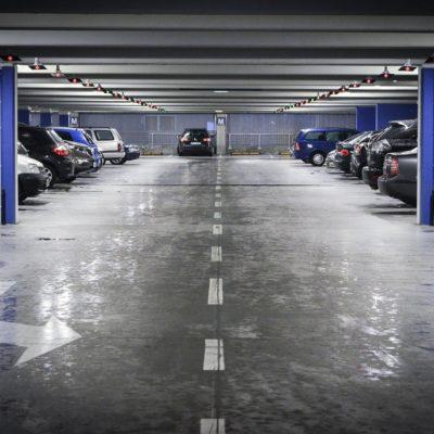 Multi-storey car park interior