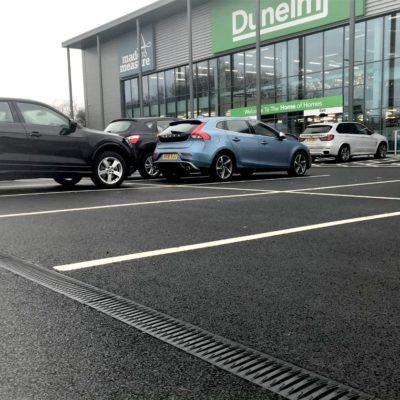 Car park within a retail park