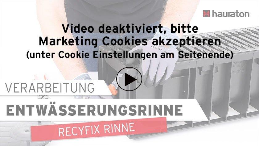 Video Verarbeitung einer RECYFIX Rinne