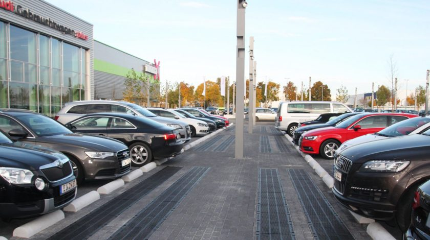Car park drainage at Audi in Germany with DRAINFIX CLEAN